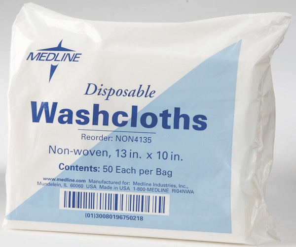 Soft Non-Woven Disposable Washcloths (Case of 1,000) - BH Medwear