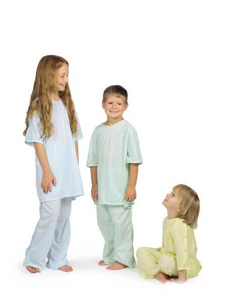 Comfort-Knit Pediatric IV Snap Gowns (1 Dozen) - BH Medwear