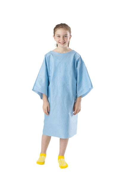 Disposable Kids Gown 9-12 years (Case of 50) - BH Medwear