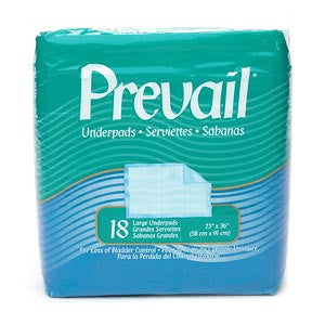 Prevail Disposable Underpads (Case of 72) - BH Medwear