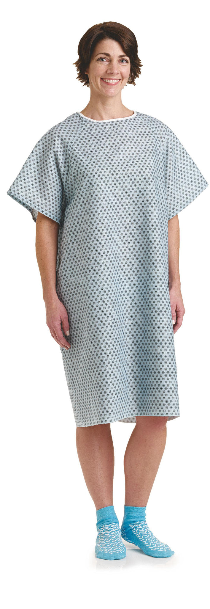 Star Straight Back Closure Hospital Gowns 2 PACK - BH Medwear