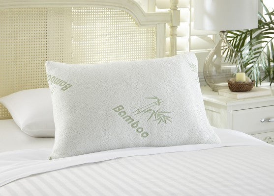 Bamboo Memory Foam Queen Size Pillow -BH MedWear