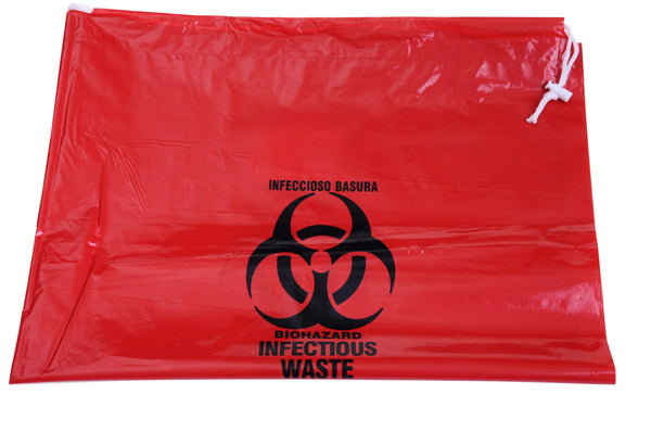 Infectious Waste Red Bio-Hazard Bags (Case of 250) - BH Medwear