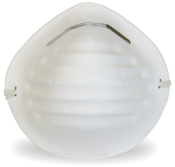 White Cone Non-rated Dust Mask - BH Medwear - 1