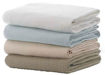Waffle Weave Blankets (Twin) ) (6 Pack)