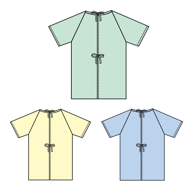 Center Close Patient Gown - BH Medwear
