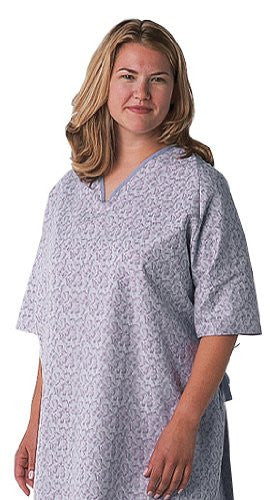 BH'S Oversized Freesia Print Hospital Gown  3X - BH Medwear - 1