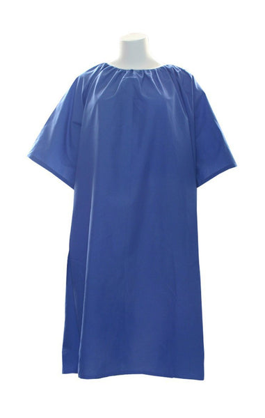 10X Deluxe Cut Oversized Gowns With Snap In Back (Navy) - BH Medwear