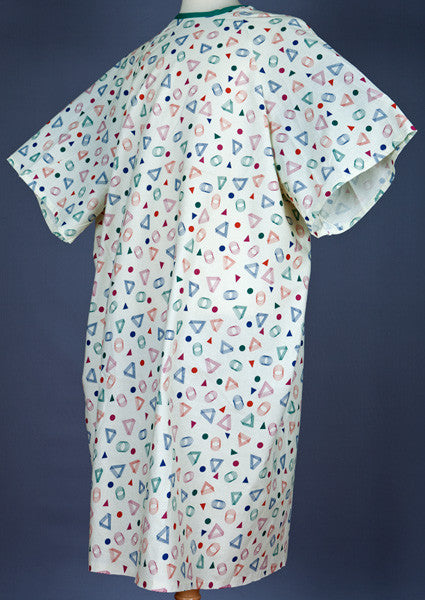 Multi-Color Geo-Print 10XL Patient Gown - BH Medwear - 2
