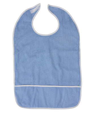 High Quality BH Crumb Catcher Adult Bibs With Velcro Closure (12 Pack)