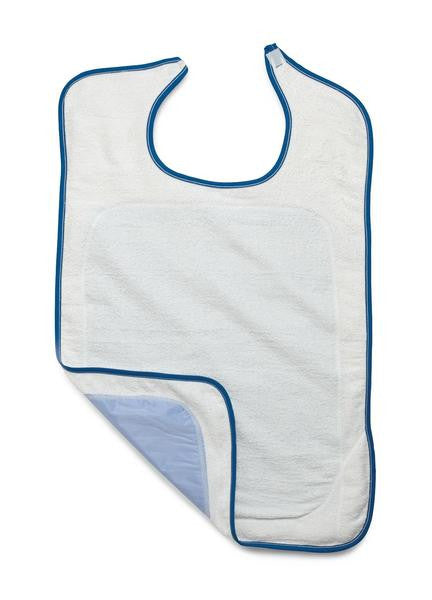 Adult Premium Velcro Terry Bib with Partial Barrier - BH MedWear