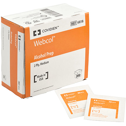 WEBCOL Alcohol Prep Pad by Covidien (Box Of 200)
