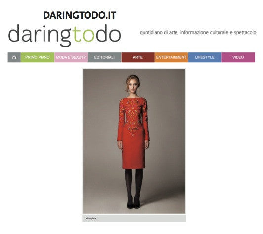 DARINGTODO.COM / RED DRESS OF AMANJEDA