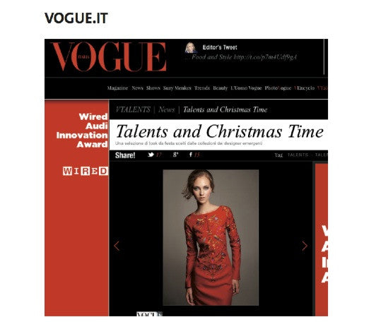 VOGUE.IT / AMANJEDA RED DRESS FOR CHRISTMAS