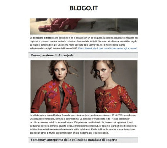 BLOGO.IT / THE PASSIONATE RED FOR AUTUMN