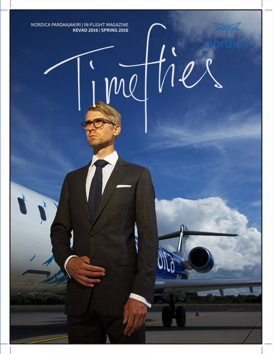 Amanjeda by Katrin Kuldma menswear, Travel suit made of Loro Piana Superfine Wool, Cover Story for flight magazine, Katrin Kuldma, designer of high quality menswear