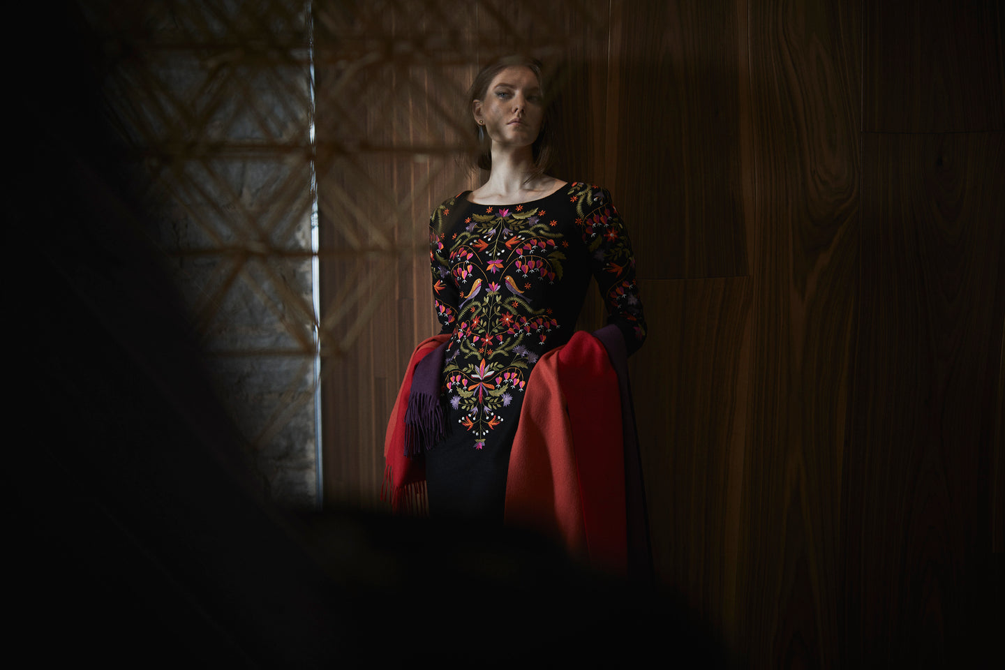 AMANJEDA by Katrin Kuldma Muhu Couture with unique embroideries, Amanjeda iconic ebroideries, Muhu heritage