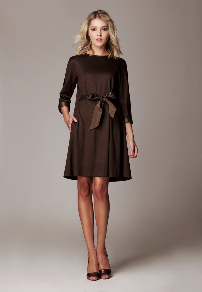 "Soft Wool Jersey Dress ""Allegro"""