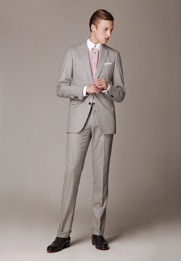 Formal Suit made soft wool flannel