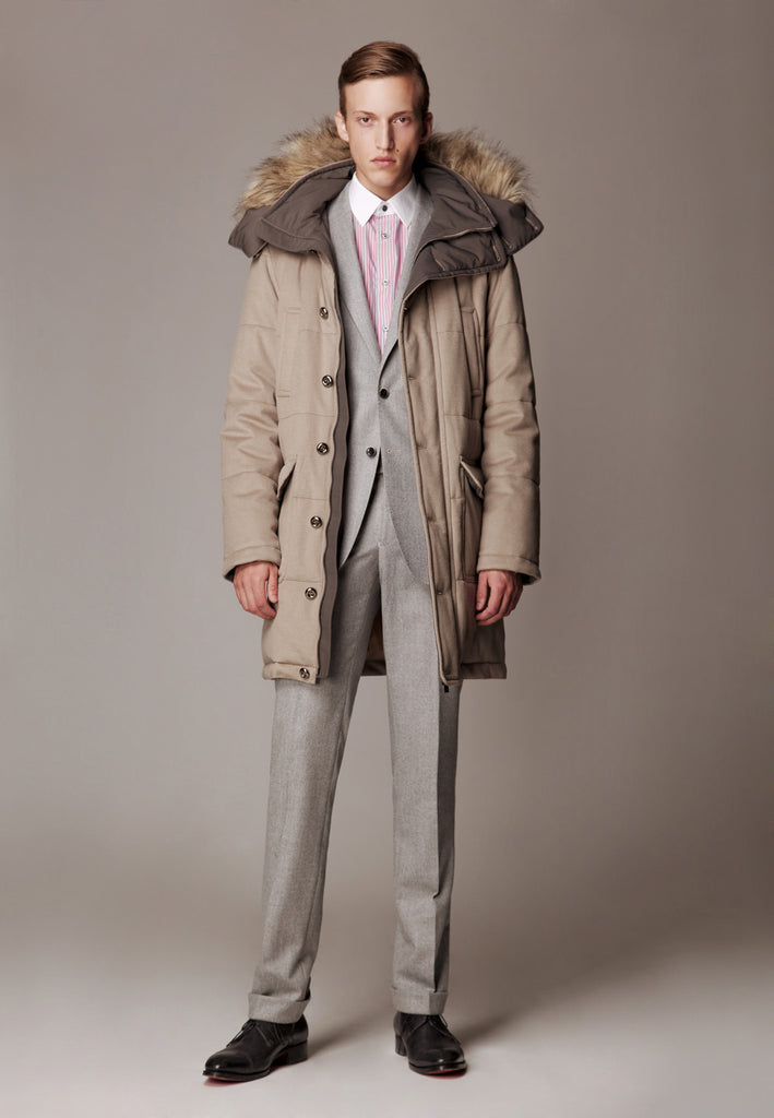 "Flannel Suit & Weatherproof Storm System Coat ""Polar"""
