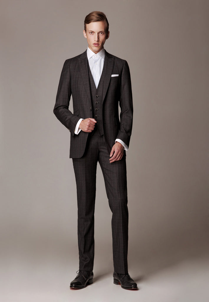 "Formal Suit with waistcoat, Cloth Ermenegildo Zegna ""Heritage"" Superfine Australian Wool"