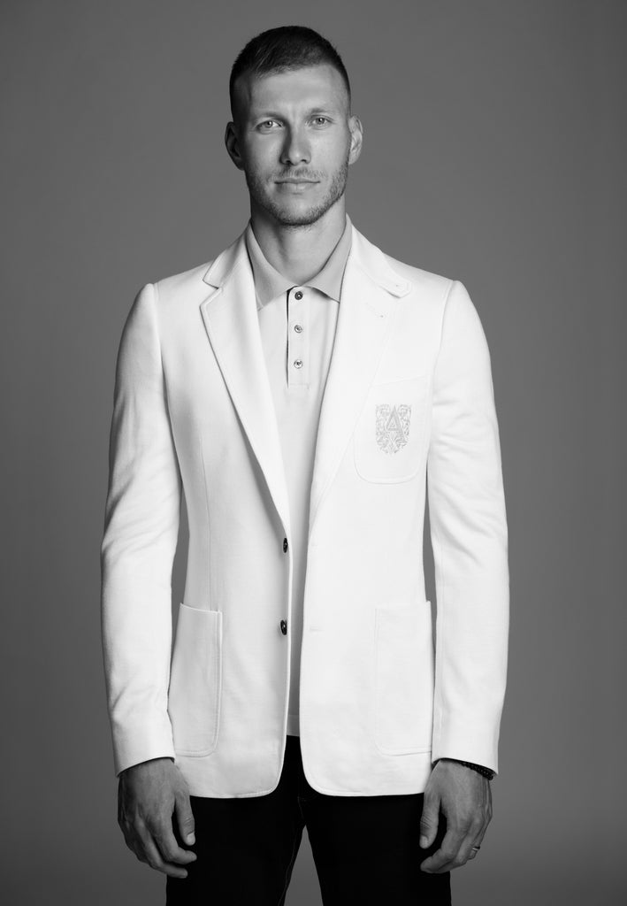 Men Blazer made of Soft Cotton Jersey / SPORT COUTURE COLLECTION