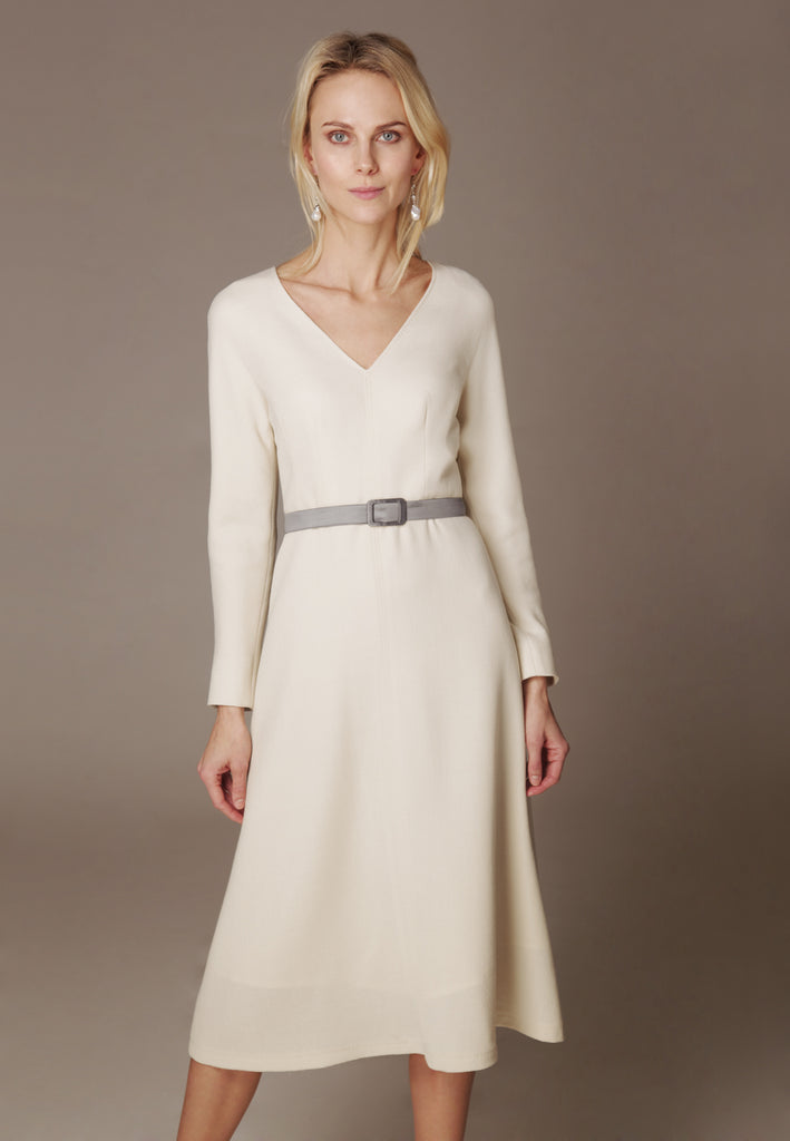 "Double Wool Crepe dress ""SFORZA"""