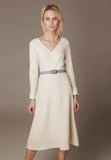 Double Wool Crepe dress