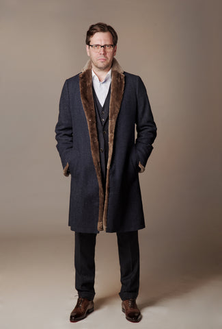"Luxury Double Alpaca Wool men coat ""Raimond"""
