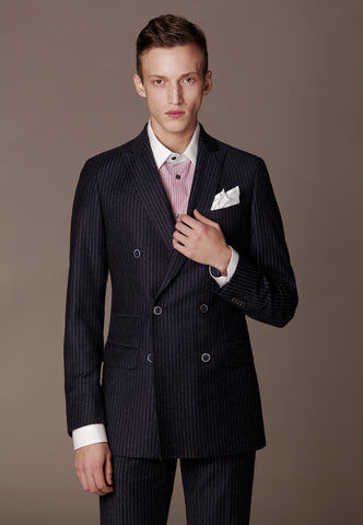 Travel Suit made of fine Cerruti Travel Collection Wool / Amanjeda Seasonal Collection