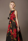 Printed Silk Organza dress