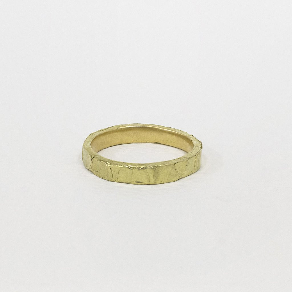 Melted Fine Stacker 18ct Gold