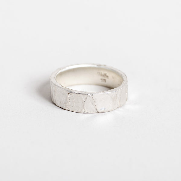 6mm Melted Ring Silver