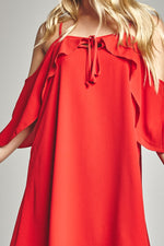 Cherry Shoulder Action Dress, Dresses