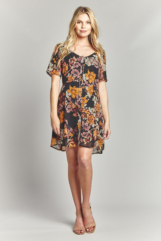Moonflower Button Up Dress