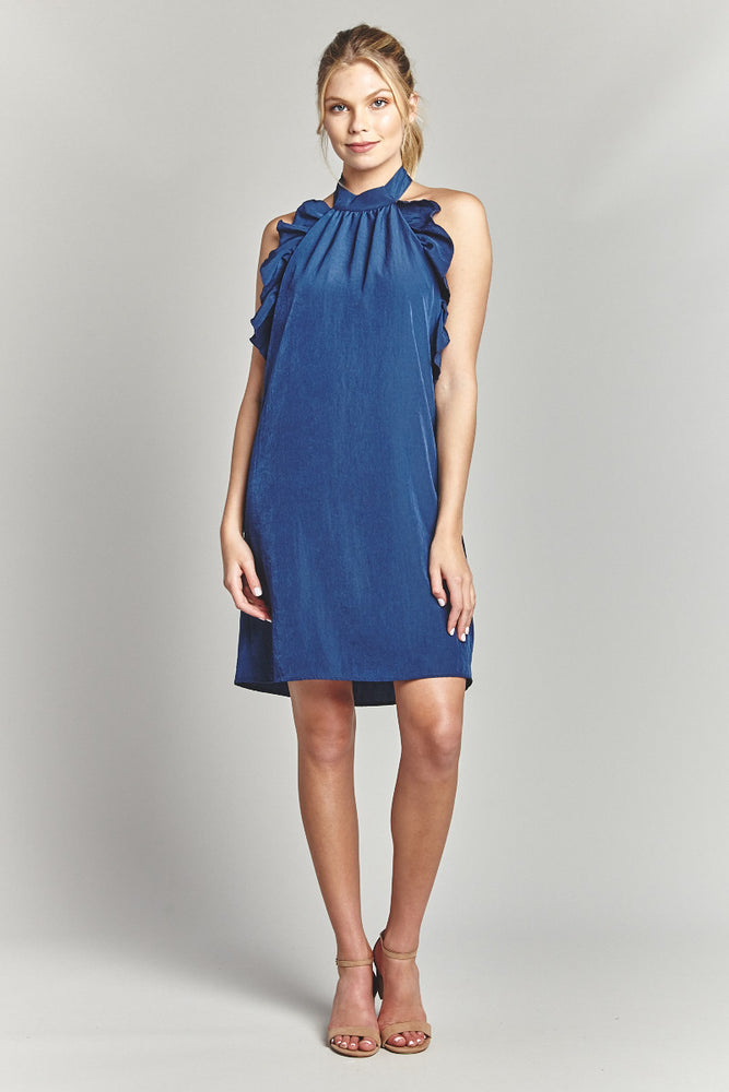 Gucci Blue Halter Dress