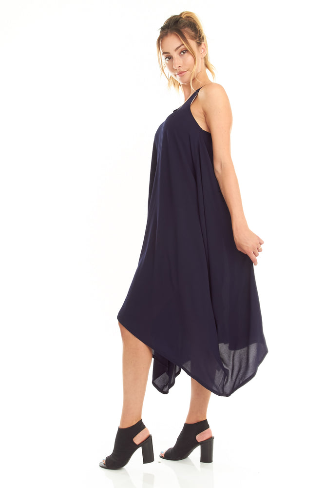 Navy Handkerchief Dress, Dresses