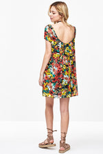 Daisy Print Scoop Back Dress, Dresses