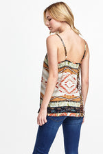 Tribal Print Tank, Tops