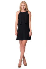 Black Overlay Sheath Dress, Dresses