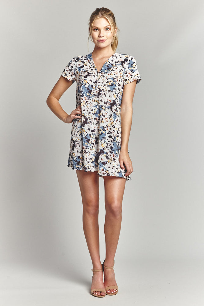 Clouds Button Up Dress