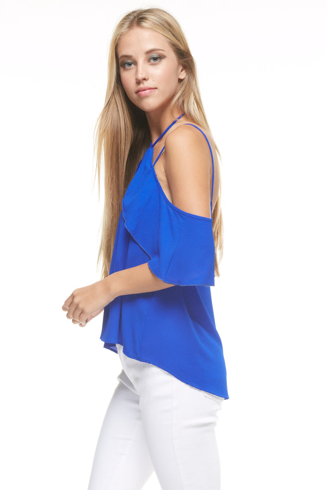 Tie Neck Off Shoulder Blouse, Tops