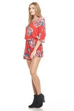 Red Floral Romper, Dresses