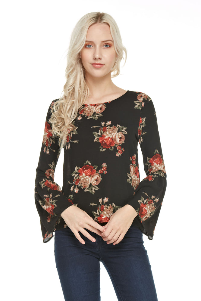 Ruffle Sleeve Top, Tops