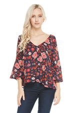 Bell Sleeve Top, Tops