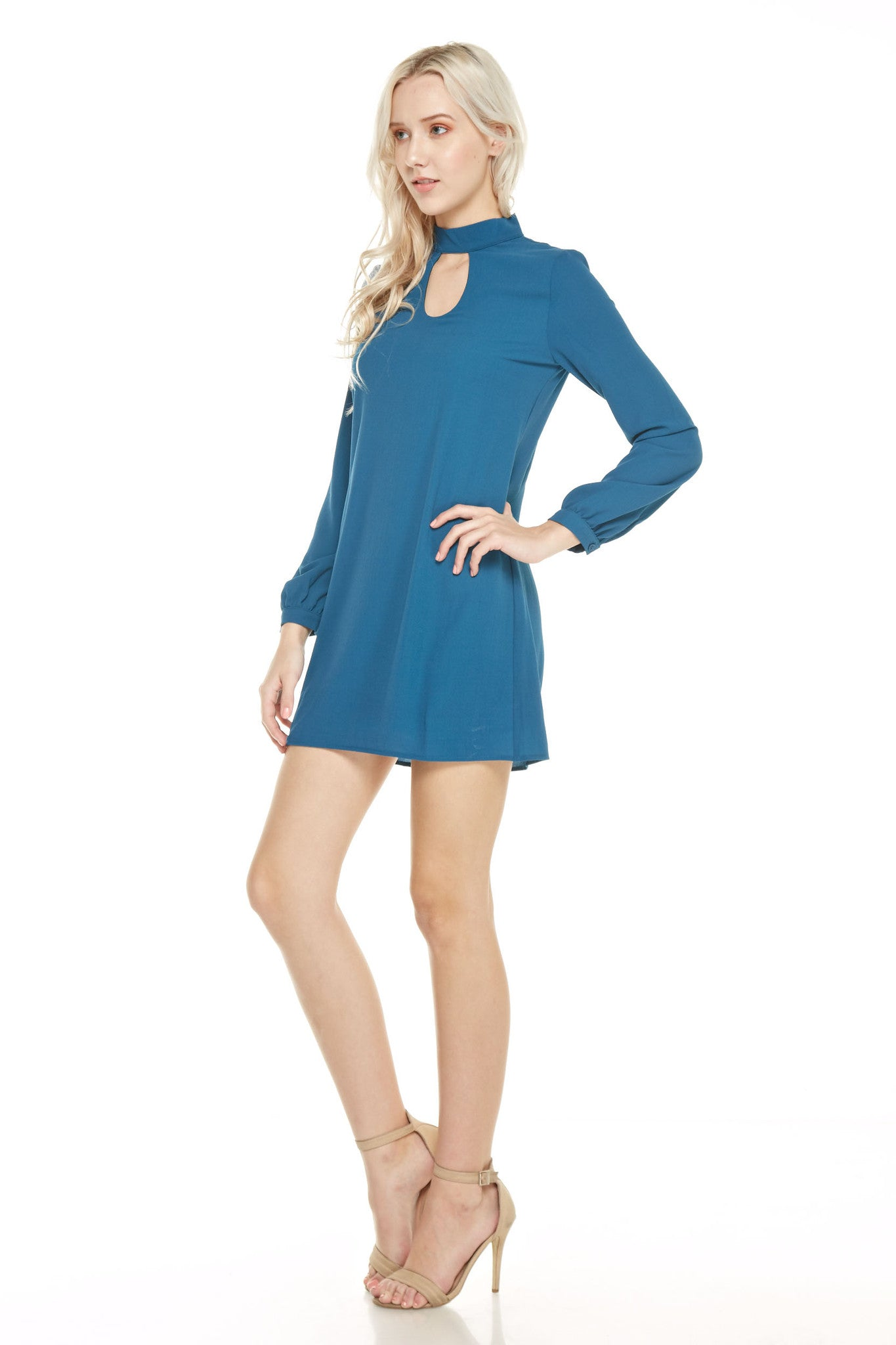 Long Sleeve Mock Neck Dress