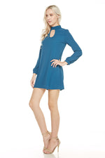 Long Sleeve Mock Neck Dress, Dresses