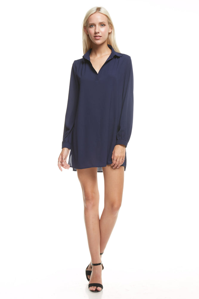 Long Sleeve Collar Tunic, Tops
