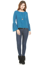 Peacock Bell Sleeve Blouse, sale