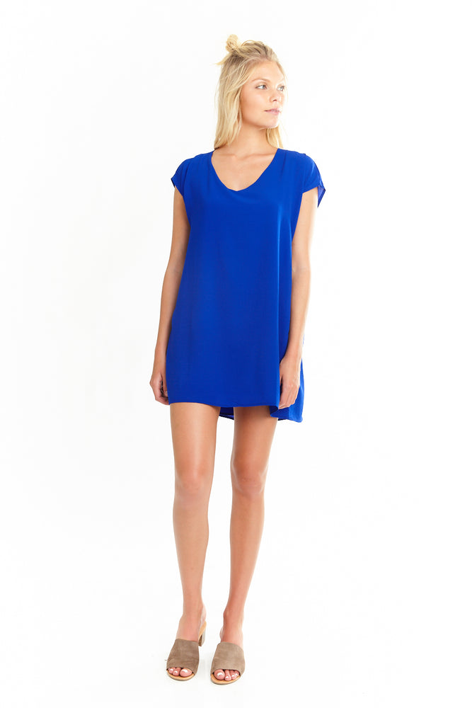 Short Sleeve Tunic Dress,